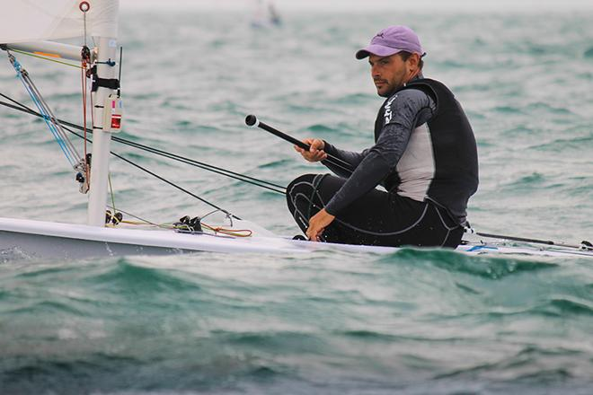 Tonci Stipanovic (CRO) sits second overall in the Laser © ISAF