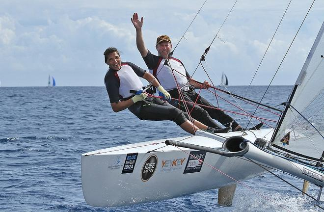 Team Gaebler in action at the Tornado Worlds Ibiza  © Martina Barnetova
