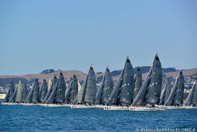 Racing fleet on Day 3 in San Francisco Bay at the Sperry Top-Sider Melges 24 Worlds ©  IMCA/ Pierrick Contin http://www.pierrickcontin.com