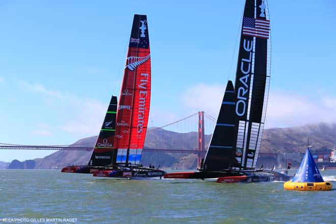 22/09/2013 - San Francisco (USA,CA) - 34th America's Cup - Oracle Team USA vs Emirates Team New Zealand, Race Day 12 © ACEA - Photo Gilles Martin-Raget http://photo.americascup.com/