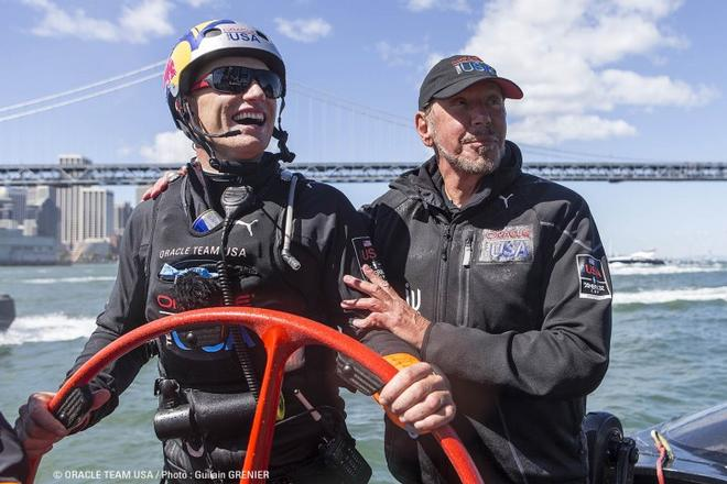 Oracle Team USA on the race © Guilain Grenier Oracle Team USA http://www.oracleteamusamedia.com/