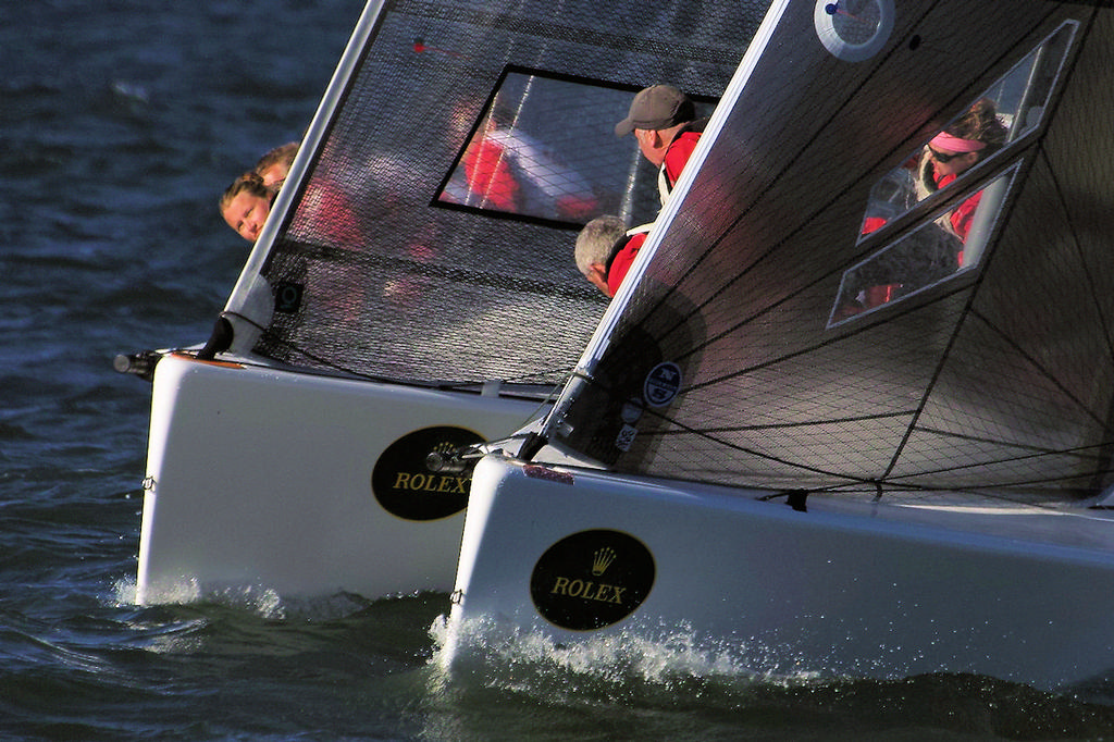 If they bump, there will be plenty of witnesses - Rolex Big Boat Series © Chuck Lantz http://www.ChuckLantz.com