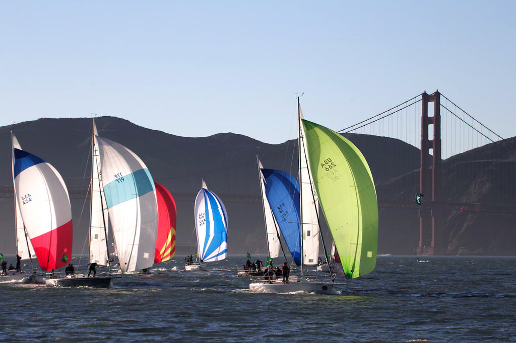 Local photographers are compelled by law to include at least one tower of the bridge in every photo gallery - Rolex Big Boat Series © Chuck Lantz http://www.ChuckLantz.com