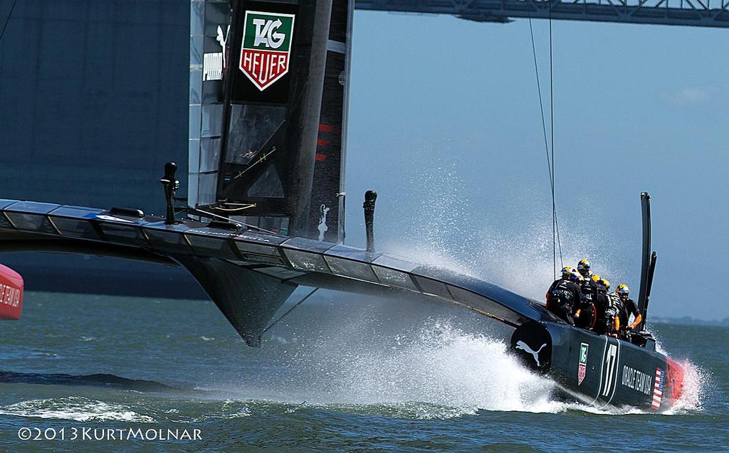 Bow Dip - America's Cup - Day 14 © Kurt Molnar