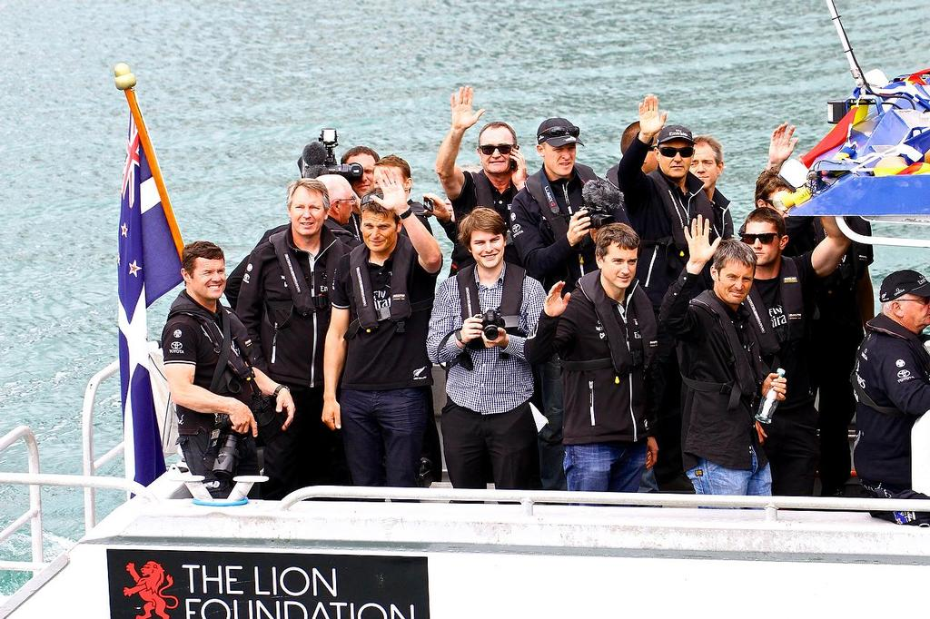 Emirates Team NZ - Welcome Home - October 4, 2013 © Richard Gladwell www.photosport.co.nz