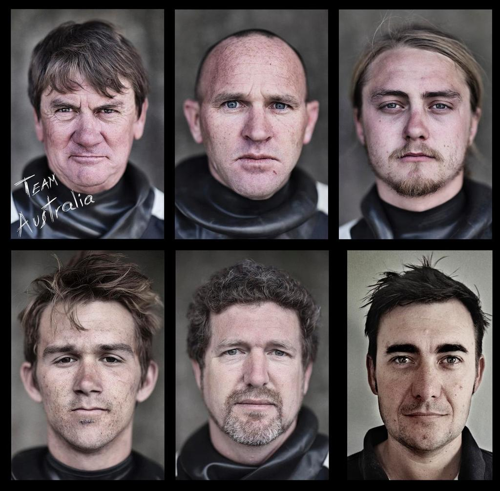 Team Australia crew members before attempting to break the record Sydney to Auckland.  <br /> Vertical top row – Sean Langman, Josh Alexander, Peter Langman ; Bottom row – Andy Woodward, James Ogilvie, Ben Kelly &copy;  Andrea Francolini Photography http://www.afrancolini.com/