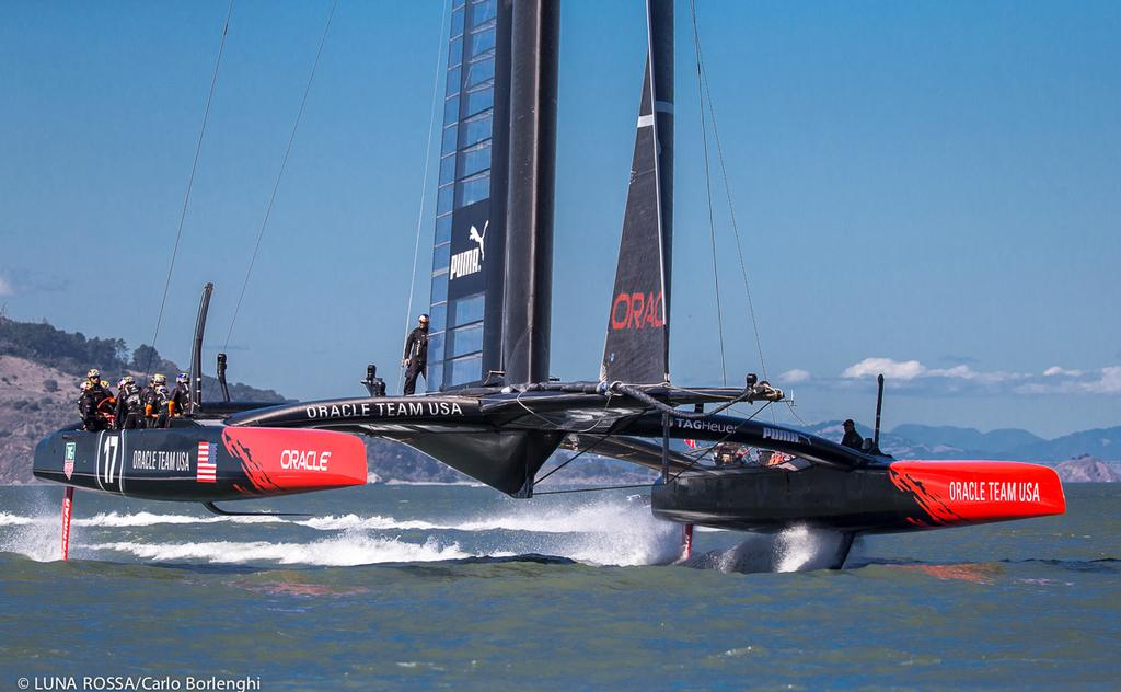 San Francisco<br /> 34th America's Cup final<br /> Oracle Team USA<br /> Race 16<br />  &copy; Carlo Borlenghi/Luna Rossa http://www.lunarossachallenge.com