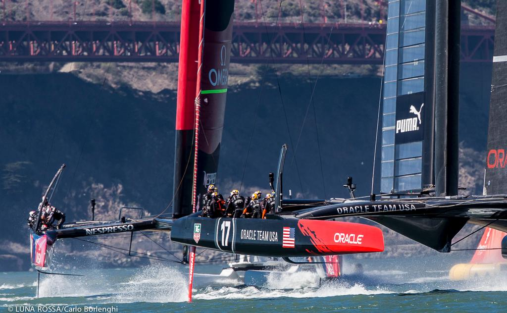 America's Cup final, Emirates Team New Zealand and Oracle Team USA - Race 16 © Carlo Borlenghi/Luna Rossa http://www.lunarossachallenge.com