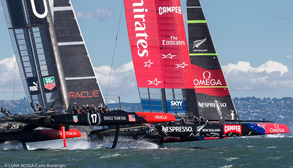 San Francisco<br /> 34th AMERICA'S CUP<br /> America's Cup final<br /> Oracle Team USA vs Emirates Team New Zealand<br />  &copy; Carlo Borlenghi/Luna Rossa http://www.lunarossachallenge.com
