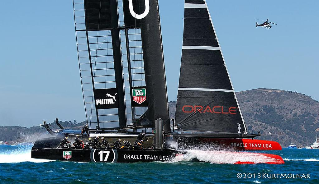 Oracle Bow - America's Cup - Day 14 © Kurt Molnar