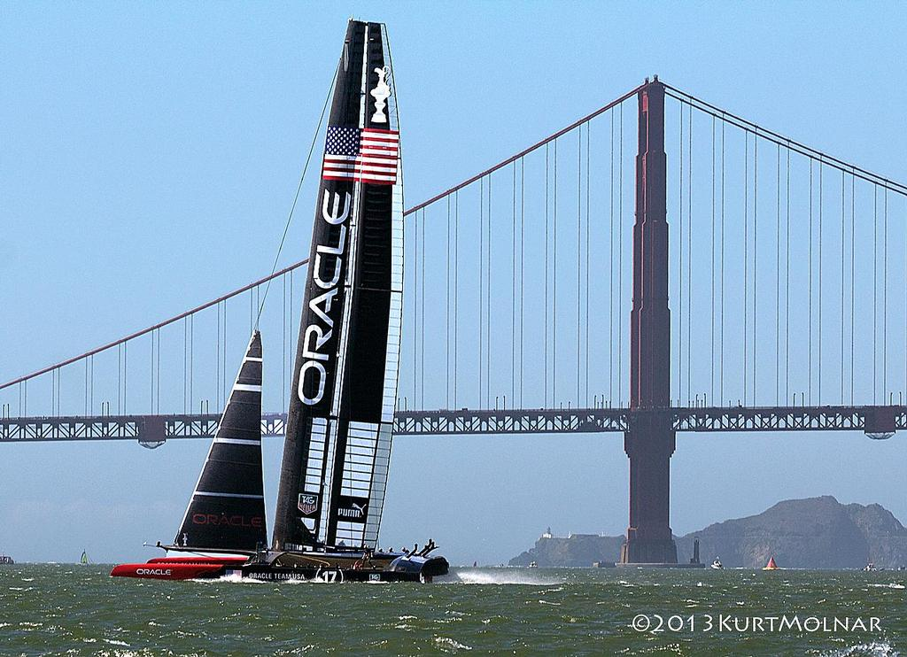 Oracle Gate1 - America's Cup - Day 14 © Kurt Molnar
