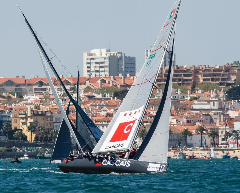 Patrick de Barros match racing in Cascais 2012 © MartinezStudio.es