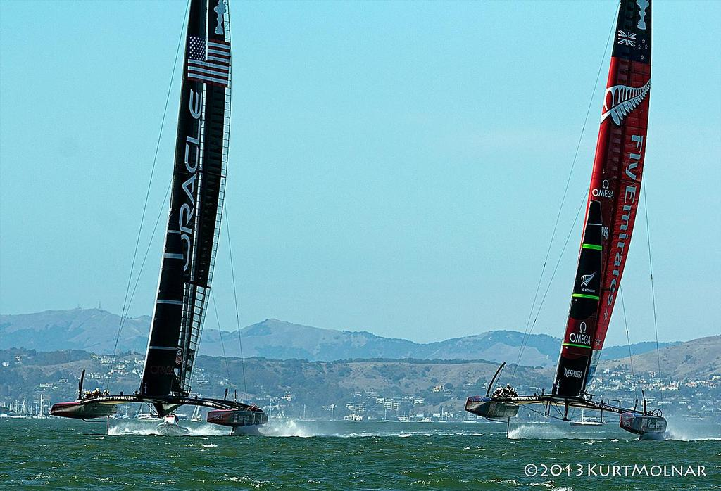 Start 1  - America's Cup - Day 14 photo copyright Kurt Molnar taken at  and featuring the  class