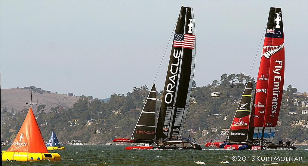 USA NZ Start  - America's Cup - Day 14 photo copyright Kurt Molnar taken at  and featuring the  class