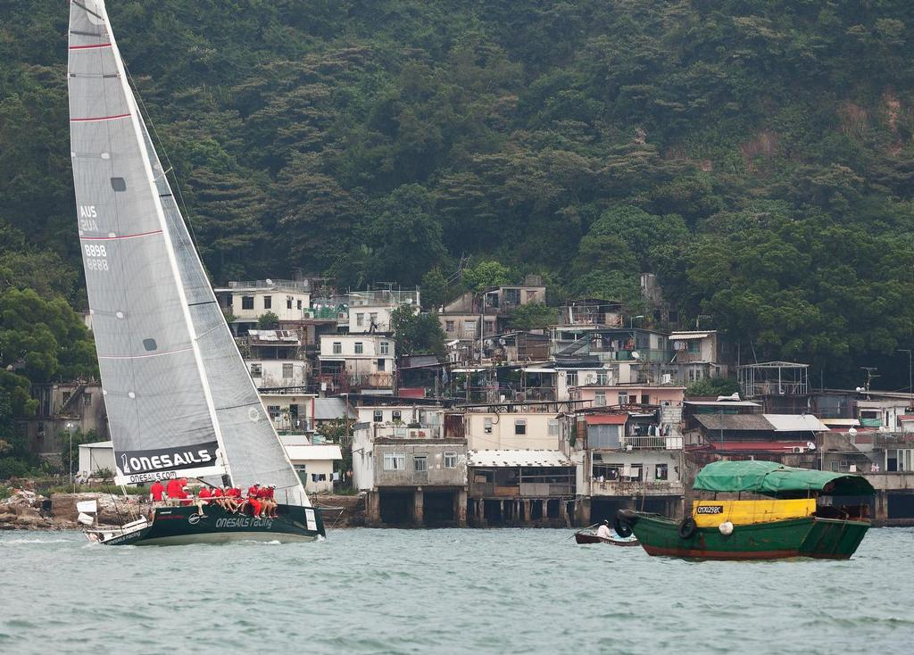 AUDI HK-Vietnam Race 2013 - OneSails Racing leaves HK harbour at Lei Yue Mun ©  RHKYC/Guy Nowell http://www.guynowell.com/
