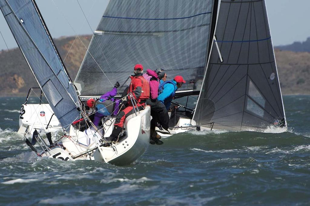 2013 Melges 24 World Championship - Upwind in the chop © Chuck Lantz http://www.ChuckLantz.com