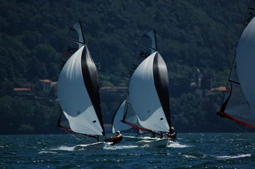 RS100 teams in action at Lake Como  © RS Sailing http://www.rssailing.com