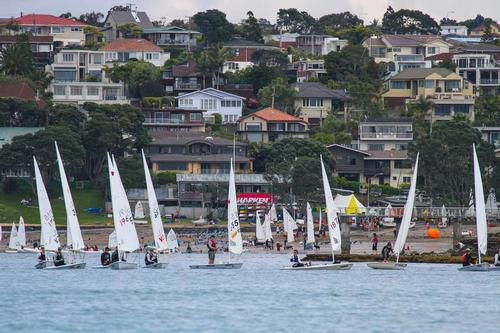 Fleet on the beach at 2013 Stack Interiors Winter Championships - Murray's Bay © John Adair