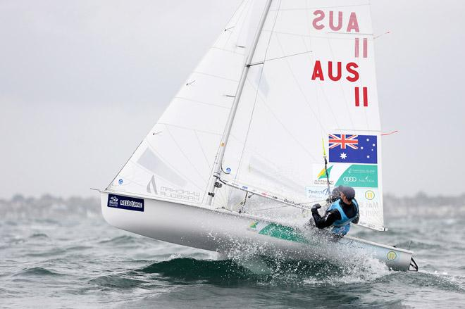 470 Men / Will Ryan & Mathew Belcher (AUS) - 2013 ISAF Sailing World Cup - Melbourne © Jeff Crow/ Sport the Library http://www.sportlibrary.com.au