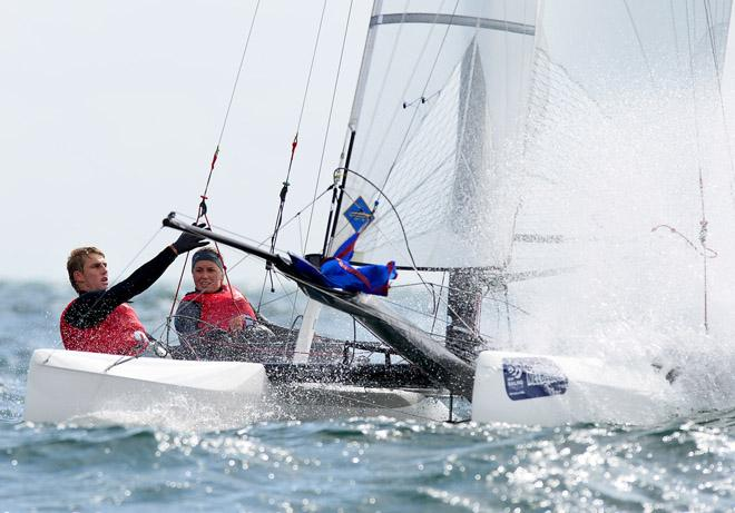 Gemma Jones & Jason Saunders (NZL) - 2013 ISAF Sailing World Cup - Melbourne © Jeff Crow/ Sport the Library http://www.sportlibrary.com.au