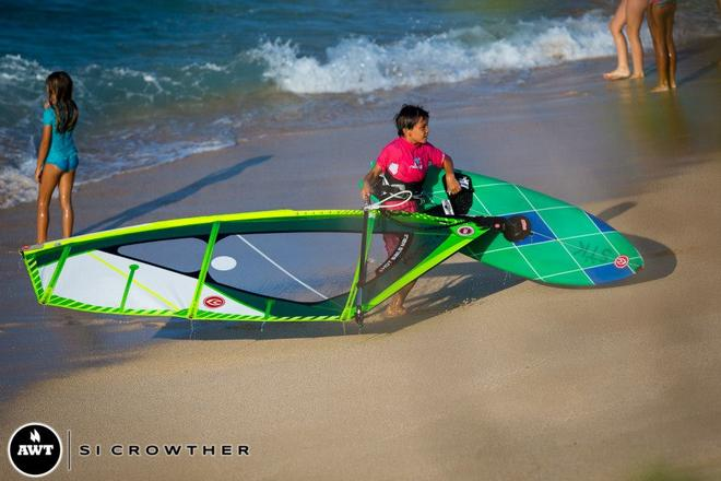 Wiley (8yrs) is the youngest in the competition and he rips!  © Si Crowther / AWT http://americanwindsurfingtour.com/