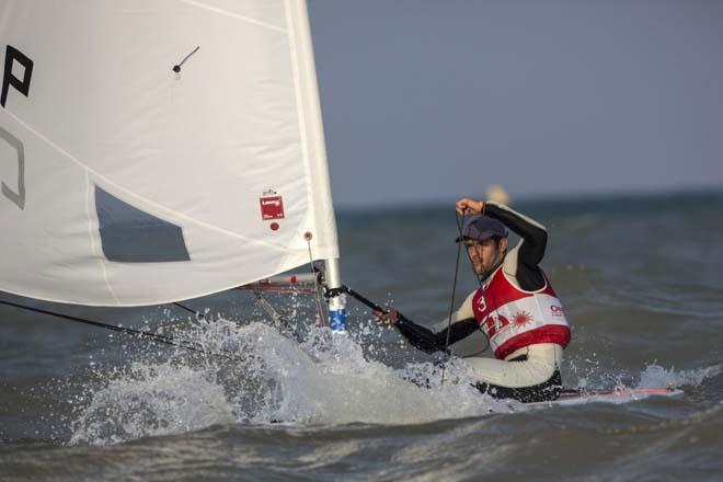 Laser World Championships 2013 day 2 - Pavlos Kontides (CYP) © Lloyd Images