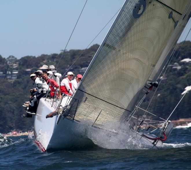 Pretty Woman, the Farr 45 skippered by Richard Hudson leaves Barrenjoey bound for Coffs will be among the handicap contenders - Pittwater & Coffs Harbour Regatta 2014 © Damian Devine