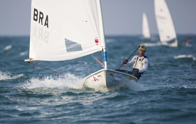 Laser World Championships 2013. Mussanah. Oman. Day 2 of racing, Robert Scheidt (BRA) © Lloyd Images