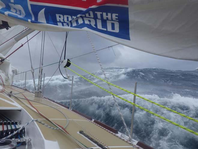 Somewhere in the Southern Ocean during Race 4 of the 2013-14 Clipper Round the World Yacht Race © Clipper 13-14 Round the World Yacht Race