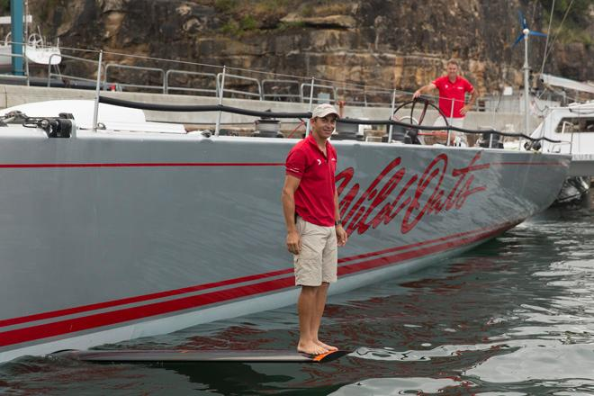 Wild Oats XI out of water - Rolex Sydney to Hobart 2013 © Andrea Francolini