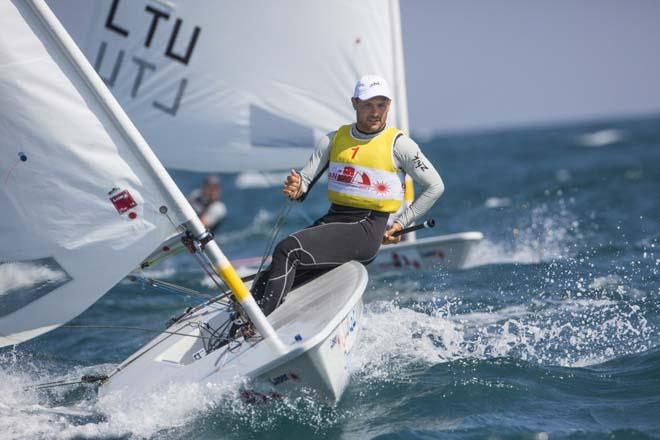 Tonci Stipanovic (CRO) on day 3 of the Laser World Championships 2013 © Lloyd Images