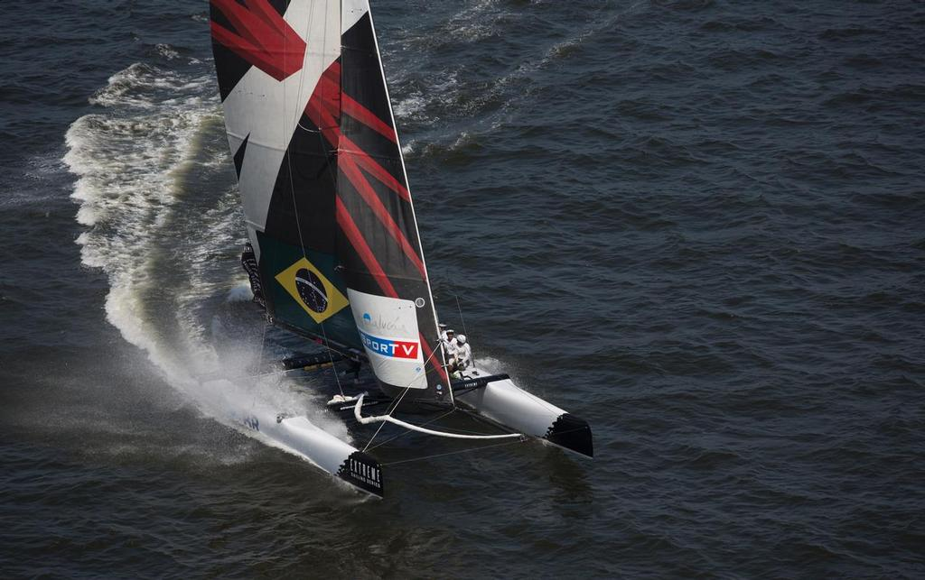 Team Brazil return to the Extreme Sailing Series after a successful debut in Rio de Janeiro in 2012 © Lloyd Images