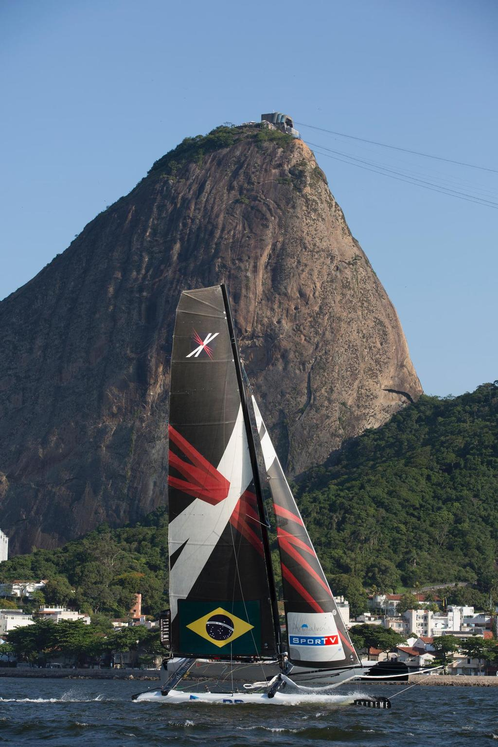 Team Brazil compete in Rio de Janeiro in 2012 under the iconic Sugar Loaf Mountain © Lloyd Images