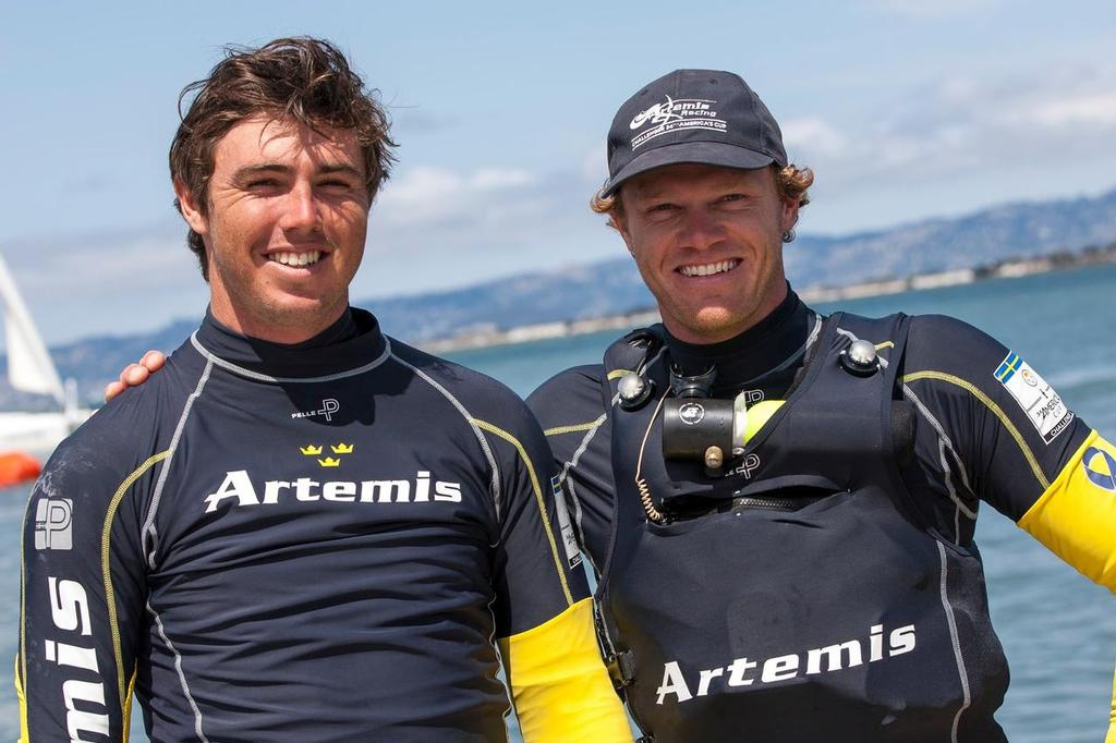 Iain Jensen and Nathan Outteridge have joined Artemis Racing for America's Cup 35 © Artemis Racing http://www.artemisracing.com