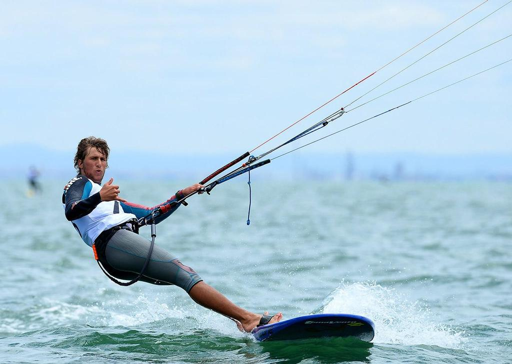 Florian Gruber (GER) - 2013 ISAF Sailing World Cup Melbourne © Jeff Crow/ Sport the Library http://www.sportlibrary.com.au