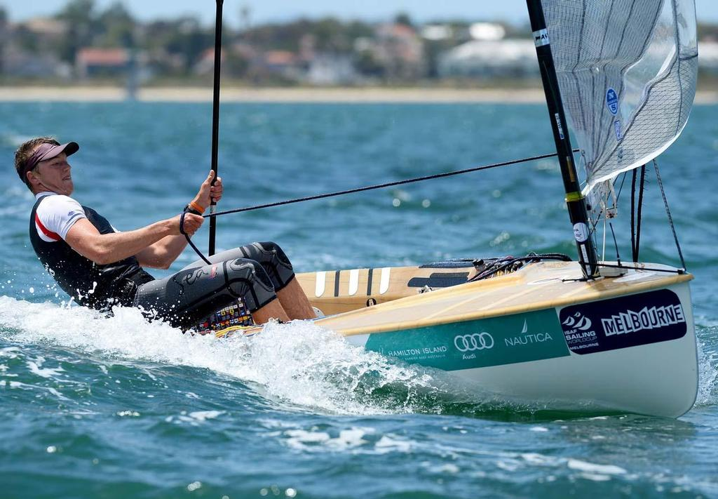 Jake Lilley (AUS) in 2013 ISAF Sailing World Cup - Melbourne. © Jeff Crow/ Sport the Library http://www.sportlibrary.com.au