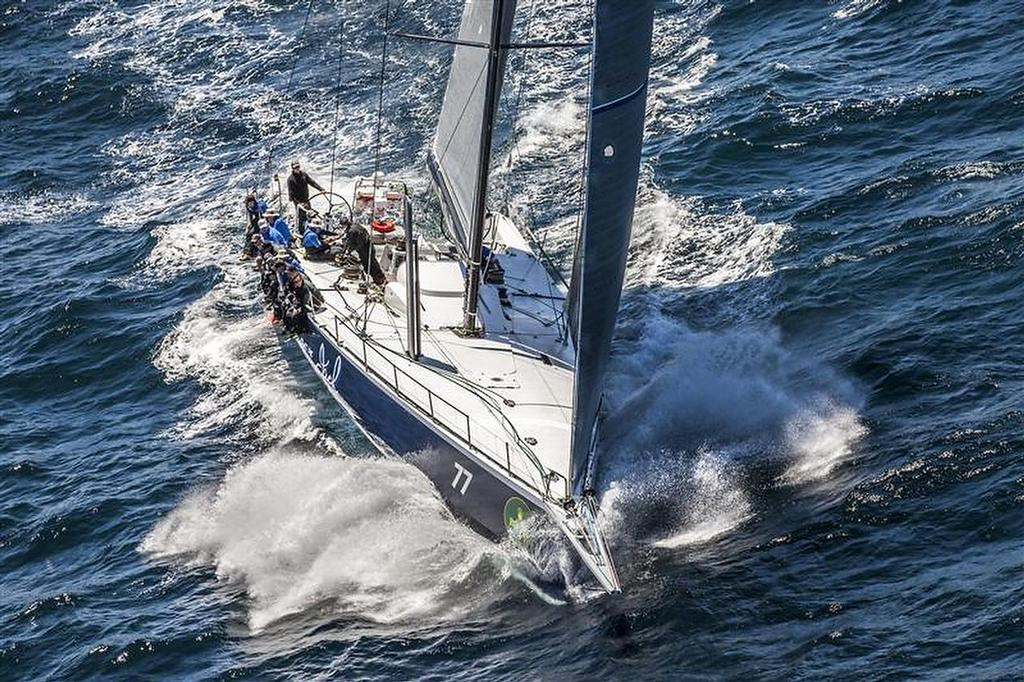 Black Jack after start of 69th Rolex Sydney Hobart  ©  Rolex/Daniel Forster http://www.regattanews.com