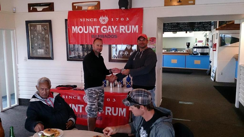Ben Tilley. First on Handicap - 2013 Mt Gay Rum Y88 Three Handed Championship © Mike Leyland