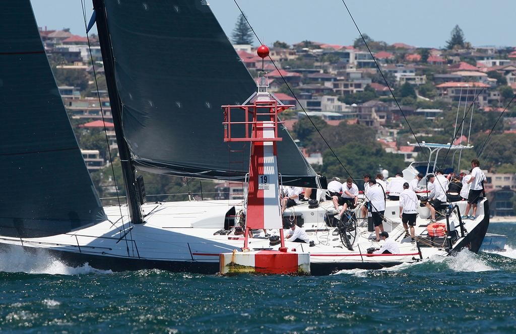Ichi Ban rounds the 'Kentucky Fried' mark - SOLAS Big Boat Challenge on Tuesday - CYCA Trophy © Crosbie Lorimer http://www.crosbielorimer.com