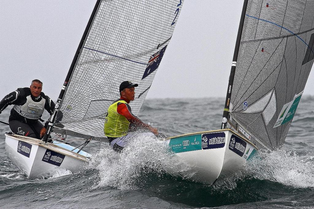 ISAF Sailing World Cup, Melbourne Day 3 _ Finn class © Richard Gladwell www.photosport.co.nz