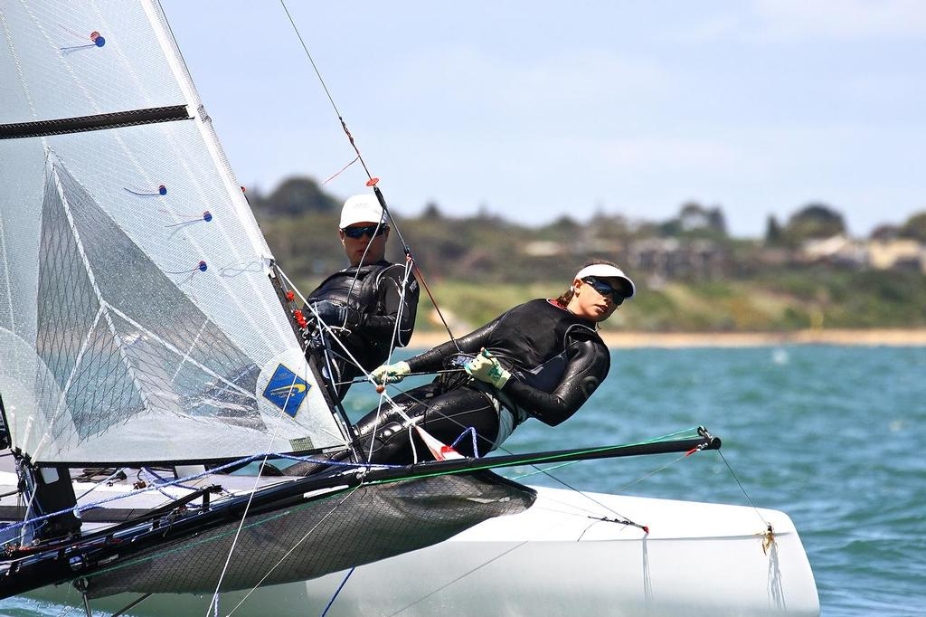 ISAF Sailing World Cup, Melbourne Day 5 - Nacra 17 -  © Richard Gladwell www.photosport.co.nz