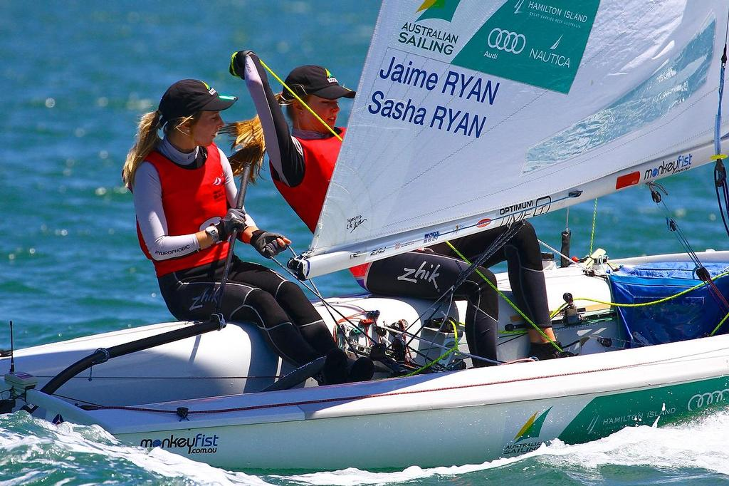 ISAF Sailing World Cup, Melbourne Day 6 W470 - Ryan sisters © Richard Gladwell www.photosport.co.nz