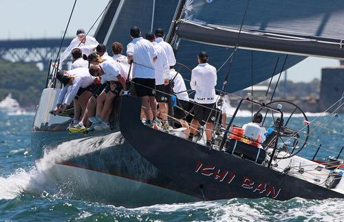 Ichi Ban heads for the finish - SOLAS Big Boat Challenge on Tuesday - CYCA Trophy © Crosbie Lorimer http://www.crosbielorimer.com
