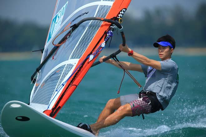 2014 Singapore Open Asian Windsurfing Championship day 1 © Howie Choo