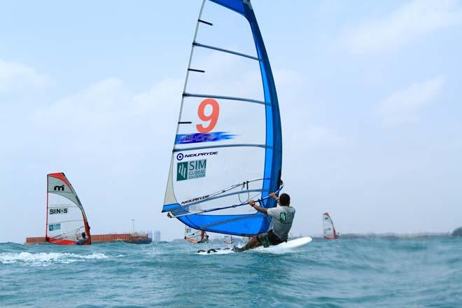 2014 Singapore Open Asian Windsurfing Championships day 3 © Howie Choo