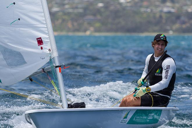 2012 ISAF Youth World Champion Radial sailor Mark Spearman (WA) has had a mixed regatta © Guido Brandt