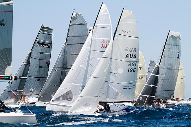 A variety of designs for the ASBA fleet are ready to start - ASBA Nationals 2014 © Teri Dodds http://www.teridodds.com