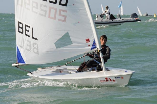 Belgium sailor William de Smet ©  Munther Al Zadjali http://omanlaserworlds2013.com/