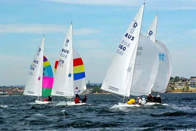 Fleet downwind ©  Rick Steuart / Perth Sailing Photography http://perthsailingphotography.weebly.com/