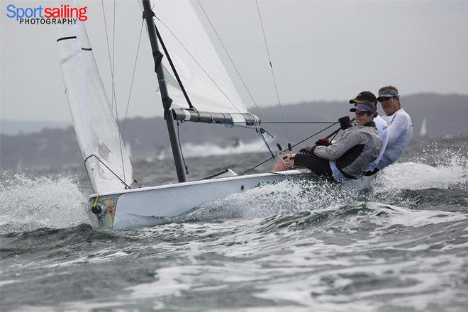 Menace of Choice - VX One Championships in Lake Macquarie 2014 © Beth Morley - Sport Sailing Photography http://www.sportsailingphotography.com